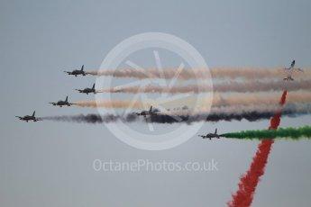 World © Octane Photographic Ltd. UAE Al Fursan (The Knights) Air Display Team – Aermacchi MB-339A. Saturday 25th November 2017, F1 Abu Dhabi GP - Yas Marina circuit, Abu Dhabi. Digital Ref : 2011CB1L8142