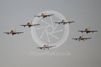 World © Octane Photographic Ltd. UAE Al Fursan (The Knights) Air Display Team – Aermacchi MB-339A. Saturday 25th November 2017, F1 Abu Dhabi GP - Yas Marina circuit, Abu Dhabi. Digital Ref : 2011CB1L8188