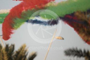 World © Octane Photographic Ltd. UAE Al Fursan (The Knights) Air Display Team – Aermacchi MB-339A. Saturday 25th November 2017, F1 Abu Dhabi GP - Yas Marina circuit, Abu Dhabi. Digital Ref : 2011CB1L8234