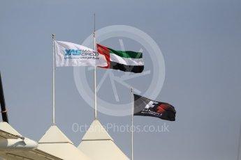 World © Octane Photographic Ltd. Formula 1 - Abu Dhabi Grand Prix - Friday Practice 1. UAE, F1 and circuit flags. Yas Marina Circuit, Abu Dhabi. Friday 24th November 2017. Digital Ref: