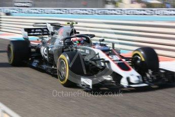 World © Octane Photographic Ltd. Formula 1 - British Grand Prix. Antonio Giovinazzi with Hans - Haas F1 Team VF-17 Reserve Driver. Yas Marina Circuit, Abu Dhabi. Friday 24th November 2017. Digital Ref: