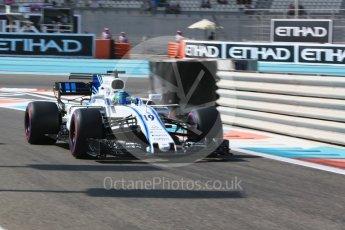 World © Octane Photographic Ltd. Formula 1 - Abu Dhabi Grand Prix - Friday Practice 1. Felipe Massa - Williams Martini Racing FW40. Yas Marina Circuit, Abu Dhabi. Friday 24th November 2017. Digital Ref: