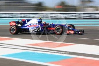 World © Octane Photographic Ltd. Formula 1 - Abu Dhabi Grand Prix - Friday Practice 1. Pierre Gasly - Scuderia Toro Rosso STR12. Yas Marina Circuit, Abu Dhabi. Friday 24th November 2017. Digital Ref:
