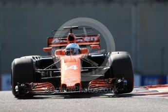 World © Octane Photographic Ltd. Formula 1 - Abu Dhabi Grand Prix - Friday Practice 1. Fernando Alonso - McLaren Honda MCL32. Yas Marina Circuit, Abu Dhabi. Friday 24th November 2017. Digital Ref: