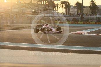 World © Octane Photographic Ltd. Formula 1 - Abu Dhabi Grand Prix - Friday - Practice 2. Esteban Ocon - Sahara Force India VJM10. Yas Marina Circuit, Abu Dhabi. Friday 24th November 2017. Digital Ref: 2003CB1L6136