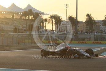 World © Octane Photographic Ltd. Formula 1 - Abu Dhabi Grand Prix - Friday - Practice 2. Kevin Magnussen - Haas F1 Team VF-17. Yas Marina Circuit, Abu Dhabi. Friday 24th November 2017. Digital Ref: 2003CB1L6177