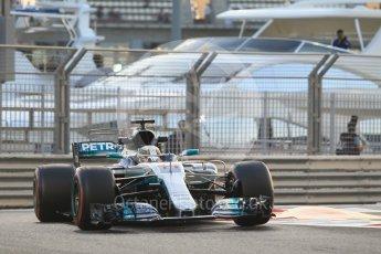 World © Octane Photographic Ltd. Formula 1 - Abu Dhabi Grand Prix - Friday - Practice 2. Lewis Hamilton - Mercedes AMG Petronas F1 W08 EQ Energy+. Yas Marina Circuit, Abu Dhabi. Friday 24th November 2017. Digital Ref: 2003CB1L6435