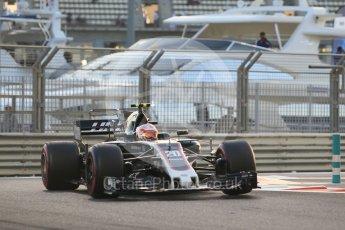 World © Octane Photographic Ltd. Formula 1 - Abu Dhabi Grand Prix - Friday - Practice 2. Kevin Magnussen - Haas F1 Team VF-17. Yas Marina Circuit, Abu Dhabi. Friday 24th November 2017. Digital Ref: 2003CB1L6441