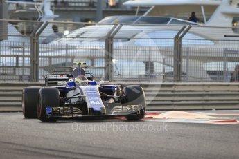 World © Octane Photographic Ltd. Formula 1 - Abu Dhabi Grand Prix - Friday - Practice 2. Pascal Wehrlein – Sauber F1 Team C36. Yas Marina Circuit, Abu Dhabi. Friday 24th November 2017. Digital Ref: 2003CB1L6460