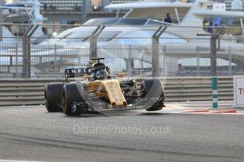 World © Octane Photographic Ltd. Formula 1 - Abu Dhabi Grand Prix - Friday - Practice 2. Nico Hulkenberg - Renault Sport F1 Team R.S.17. Yas Marina Circuit, Abu Dhabi. Friday 24th November 2017. Digital Ref: 2003CB1L6480
