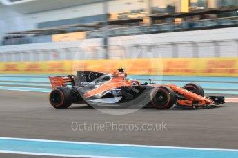 World © Octane Photographic Ltd. Formula 1 - Abu Dhabi Grand Prix - Friday - Practice 2. Fernando Alonso - McLaren Honda MCL32. Yas Marina Circuit, Abu Dhabi. Friday 24th November 2017. Digital Ref: 2003CB1L6562