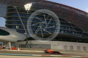 World © Octane Photographic Ltd. Formula 1 - Abu Dhabi Grand Prix - Friday - Practice 2. Max Verstappen - Red Bull Racing RB13. Yas Marina Circuit, Abu Dhabi. Friday 24th November 2017. Digital Ref: 2003CB5D0169