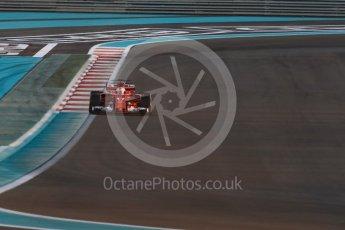 World © Octane Photographic Ltd. Formula 1 - Abu Dhabi Grand Prix - Friday - Practice 2. Sebastian Vettel - Scuderia Ferrari SF70H. Yas Marina Circuit, Abu Dhabi. Friday 24th November 2017. Digital Ref: 2003LB1D3072