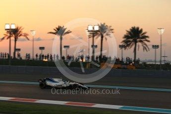 World © Octane Photographic Ltd. Formula 1 - Abu Dhabi Grand Prix - Friday - Practice 2. Lance Stroll - Williams Martini Racing FW40. Yas Marina Circuit, Abu Dhabi. Friday 24th November 2017. Digital Ref: 2003LB2D8770