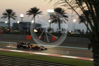 World © Octane Photographic Ltd. Formula 1 - Abu Dhabi Grand Prix - Friday - Practice 2. Carlos Sainz - Renault Sport F1 Team R.S.17. Yas Marina Circuit, Abu Dhabi. Friday 24th November 2017. Digital Ref: 2003LB2D9182