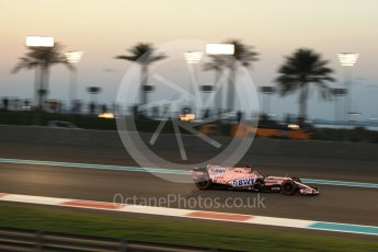 World © Octane Photographic Ltd. Formula 1 - Abu Dhabi Grand Prix - Friday - Practice 2. Sergio Perez - Sahara Force India VJM10. Yas Marina Circuit, Abu Dhabi. Friday 24th November 2017. Digital Ref: 2003LB2D9270