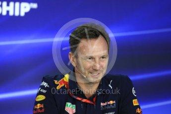 World © Octane Photographic Ltd. Formula 1 - Abu Dhabi Grand Prix – Friday Team Press Conference – Part 1. Christian Horner - Team Principal of Red Bull Racing Ltd. Yas Marina Circuit, Abu Dhabi. Friday 24th November 2017. Digital Ref: