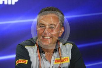 World © Octane Photographic Ltd. Formula 1 - Abu Dhabi Grand Prix – Friday Team Press Conference – Part 2. Mario Isola – Pirelli Head of Car Racing. Yas Marina Circuit, Abu Dhabi. Friday 24th November 2017. Digital Ref: