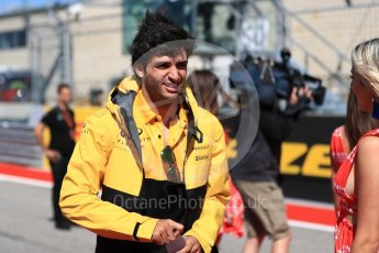 World © Octane Photographic Ltd. Formula 1 - American Grand Prix - Sunday - Drivers Parade. Carlos Sainz - Renault Sport F1 Team. Circuit of the Americas, Austin, Texas, USA. Sunday 22nd October 2017. Digital Ref: 1993LB1D8705