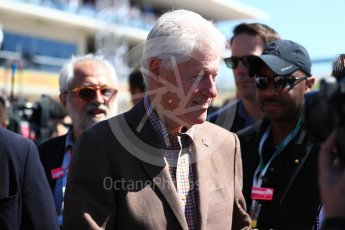 World © Octane Photographic Ltd. Formula 1 - American Grand Prix - Sunday - Grid. Bill Clinton. Circuit of the Americas, Austin, Texas, USA. Sunday 22nd October 2017. Digital Ref: 1993LB1D9019