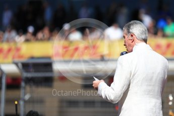 World © Octane Photographic Ltd. Formula 1 - American Grand Prix - Sunday - Grid. Michael Buffer. Circuit of the Americas, Austin, Texas, USA. Sunday 22nd October 2017. Digital Ref: 1993LB1D9110