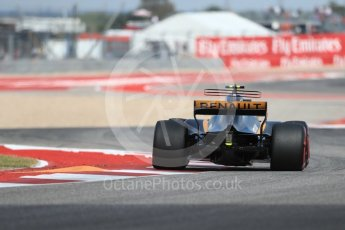 World © Octane Photographic Ltd. Formula 1 - American Grand Prix - Friday - Practice 2. Carlos Sainz - Renault Sport F1 Team R.S.17. Circuit of the Americas, Austin, Texas, USA. Friday 20th October 2017. Digital Ref: 1987LB1D4084