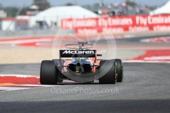 World © Octane Photographic Ltd. Formula 1 - American Grand Prix - Friday - Practice 2. Fernando Alonso - McLaren Honda MCL32. Circuit of the Americas, Austin, Texas, USA. Friday 20th October 2017. Digital Ref: 1987LB1D4156