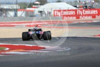 World © Octane Photographic Ltd. Formula 1 - American Grand Prix - Friday - Practice 2. Daniil Kvyat - Scuderia Toro Rosso STR12. Circuit of the Americas, Austin, Texas, USA. Friday 20th October 2017. Digital Ref: 1987LB1D4208