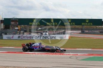 World © Octane Photographic Ltd. Formula 1 - American Grand Prix - Friday - Practice 2. Daniil Kvyat - Scuderia Toro Rosso STR12. Circuit of the Americas, Austin, Texas, USA. Friday 20th October 2017. Digital Ref: 1987LB2D6422