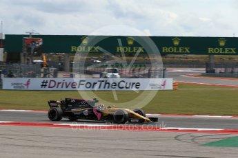 World © Octane Photographic Ltd. Formula 1 - American Grand Prix - Friday - Practice 2. Carlos Sainz - Renault Sport F1 Team R.S.17. Circuit of the Americas, Austin, Texas, USA. Friday 20th October 2017. Digital Ref: 1987LB2D6451