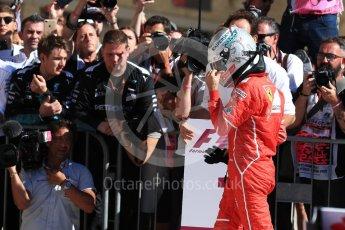 World © Octane Photographic Ltd. Formula 1 - American Grand Prix - Sunday - Race Podium. Sebastian Vettel - Scuderia Ferrari SF70H. Circuit of the Americas, Austin, Texas, USA. Sunday 22nd October 2017. Digital Ref: 1995LB1D0131