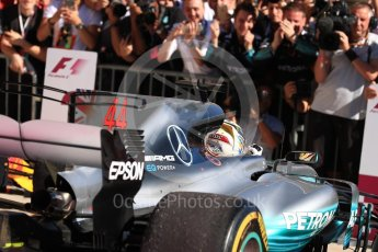 World © Octane Photographic Ltd. Formula 1 - American Grand Prix - Sunday - Race Podium. Lewis Hamilton - Mercedes AMG Petronas F1 W08 EQ Energy+. Circuit of the Americas, Austin, Texas, USA. Sunday 22nd October 2017. Digital Ref: 1995LB1D0172
