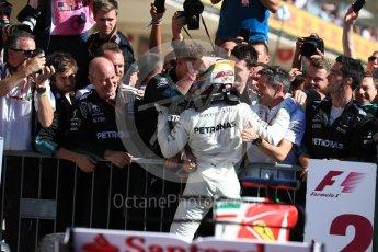 World © Octane Photographic Ltd. Formula 1 - American Grand Prix - Sunday - Race Podium. Lewis Hamilton - Mercedes AMG Petronas F1 W08 EQ Energy+. Circuit of the Americas, Austin, Texas, USA. Sunday 22nd October 2017. Digital Ref: 1995LB1D0271
