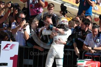 World © Octane Photographic Ltd. Formula 1 - American Grand Prix - Sunday - Race Podium. Lewis Hamilton - Mercedes AMG Petronas F1 W08 EQ Energy+. Circuit of the Americas, Austin, Texas, USA. Sunday 22nd October 2017. Digital Ref: 1995LB1D0282