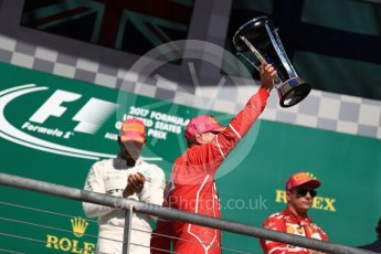 World © Octane Photographic Ltd. Formula 1 - American Grand Prix - Sunday - Race Podium. Sebastian Vettel - Scuderia Ferrari SF70H. Circuit of the Americas, Austin, Texas, USA. Sunday 22nd October 2017. Digital Ref: 1995LB1D0725