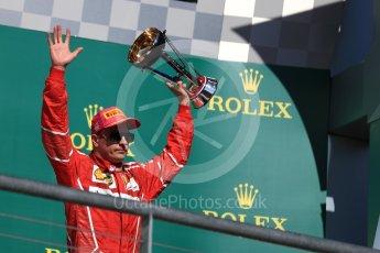World © Octane Photographic Ltd. Formula 1 - American Grand Prix - Sunday - Race Podium. Kimi Raikkonen - Scuderia Ferrari SF70H. Circuit of the Americas, Austin, Texas, USA. Sunday 22nd October 2017. Digital Ref: 1995LB1D0747