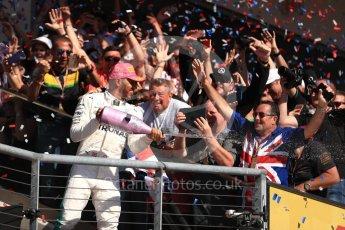 World © Octane Photographic Ltd. Formula 1 - American Grand Prix - Sunday - Race Podium. Lewis Hamilton - Mercedes AMG Petronas F1 W08 EQ Energy+. Circuit of the Americas, Austin, Texas, USA. Sunday 22nd October 2017. Digital Ref: 1995LB1D0861