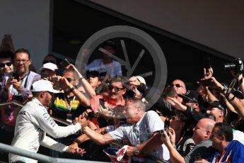 World © Octane Photographic Ltd. Formula 1 - American Grand Prix - Sunday - Race Podium. Lewis Hamilton - Mercedes AMG Petronas F1 W08 EQ Energy+. Circuit of the Americas, Austin, Texas, USA. Sunday 22nd October 2017. Digital Ref: 1995LB1D1091