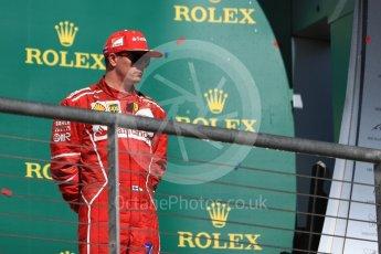 World © Octane Photographic Ltd. Formula 1 - American Grand Prix - Sunday - Race Podium. Kimi Raikkonen - Scuderia Ferrari SF70H. Circuit of the Americas, Austin, Texas, USA. Sunday 22nd October 2017. Digital Ref: 1995LB1D1118