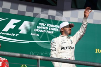 World © Octane Photographic Ltd. Formula 1 - American Grand Prix - Sunday - Race Podium. Lewis Hamilton - Mercedes AMG Petronas F1 W08 EQ Energy+. Circuit of the Americas, Austin, Texas, USA. Sunday 22nd October 2017. Digital Ref: 1995LB1D1141