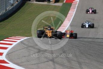 World © Octane Photographic Ltd. Formula 1 - American Grand Prix - Sunday - Race. Carlos Sainz - Renault Sport F1 Team R.S.17. Circuit of the Americas, Austin, Texas, USA. Sunday 22nd October 2017. Digital Ref: 1994LB1D9584