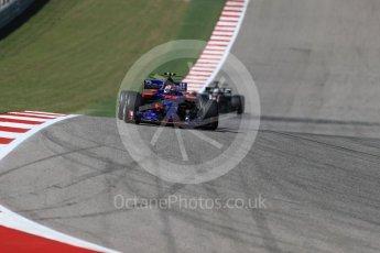 World © Octane Photographic Ltd. Formula 1 - American Grand Prix - Sunday - Race. Daniil Kvyat - Scuderia Toro Rosso STR12. Circuit of the Americas, Austin, Texas, USA. Sunday 22nd October 2017. Digital Ref: 1994LB1D9715