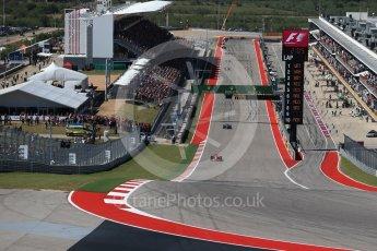 World © Octane Photographic Ltd. Formula 1 - American Grand Prix - Sunday - Race. Sebastian Vettel - Scuderia Ferrari SF70H. Circuit of the Americas, Austin, Texas, USA. Sunday 22nd October 2017. Digital Ref: 1994LB2D7294