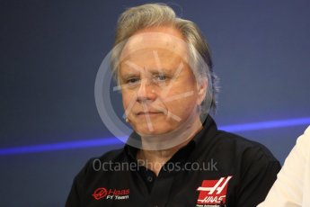 World © Octane Photographic Ltd. Formula 1 - American Grand Prix – Friday Team Press Conference. Gene Haas - Founder and Chairman of Haas F1 Team. Circuit of the Americas, Austin, Texas, USA. Friday 20th October 2017. Digital Ref: 1988LB1D5320