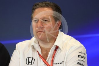 World © Octane Photographic Ltd. Formula 1 - American Grand Prix – Friday Team Press Conference. Zak Brown - Executive Director of McLaren Technology Group. Circuit of the Americas, Austin, Texas, USA. Friday 20th October 2017. Digital Ref: 1988LB1D5332