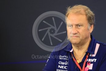 World © Octane Photographic Ltd. Formula 1 - American Grand Prix – Friday Team Press Conference. Robert Fernley - Deputy Team Principal of Sahara Force India. Circuit of the Americas, Austin, Texas, USA. Friday 20th October 2017. Digital Ref: 1988LB1D5363