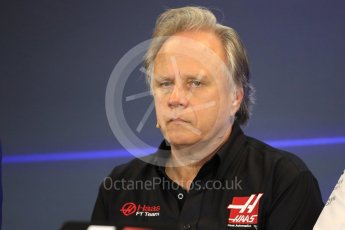 World © Octane Photographic Ltd. Formula 1 - American Grand Prix – Friday Team Press Conference. Gene Haas - Founder and Chairman of Haas F1 Team. Circuit of the Americas, Austin, Texas, USA. Friday 20th October 2017. Digital Ref: 1988LB1D5369