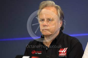 World © Octane Photographic Ltd. Formula 1 - American Grand Prix – Friday Team Press Conference. Gene Haas - Founder and Chairman of Haas F1 Team. Circuit of the Americas, Austin, Texas, USA. Friday 20th October 2017. Digital Ref: 1988LB1D5392