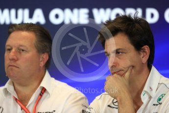 World © Octane Photographic Ltd. Formula 1 - American Grand Prix – Friday Team Press Conference. Toto Wolff - Executive Director & Head of Mercedes-Benz Motorsport. Circuit of the Americas, Austin, Texas, USA. Friday 20th October 2017. Digital Ref: 1988LB1D5406