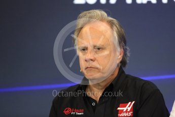World © Octane Photographic Ltd. Formula 1 - American Grand Prix – Friday Team Press Conference. Gene Haas - Founder and Chairman of Haas F1 Team. Circuit of the Americas, Austin, Texas, USA. Friday 20th October 2017. Digital Ref: 1988LB1D5410